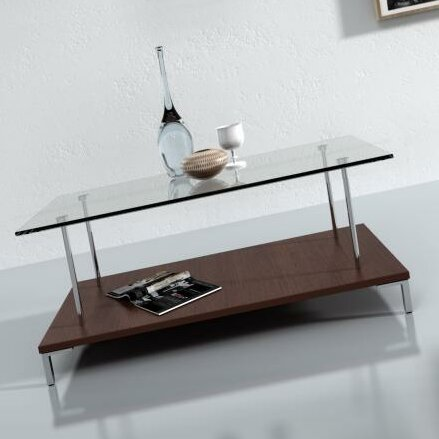 McKenney Glass Top Coffee Table by Wade Logan