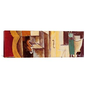 'Violin and Guitar (Panoramic)' by Pablo Picasso Painting Print on Canvas by iCanvas