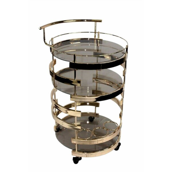 Gaughan Glamorously 3 Tiered Bar Cart by Everly Quinn