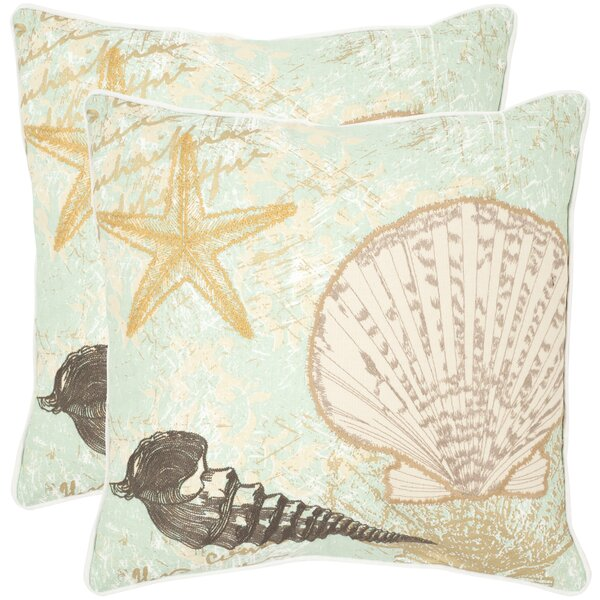 Eve Cotton Throw Pillow (Set of 2) by Safavieh