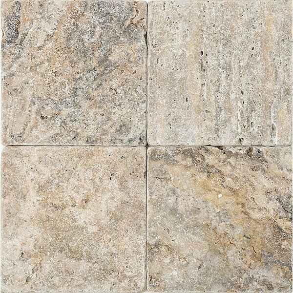 6 x 6 Travertine Field Tile in Gray by Parvatile