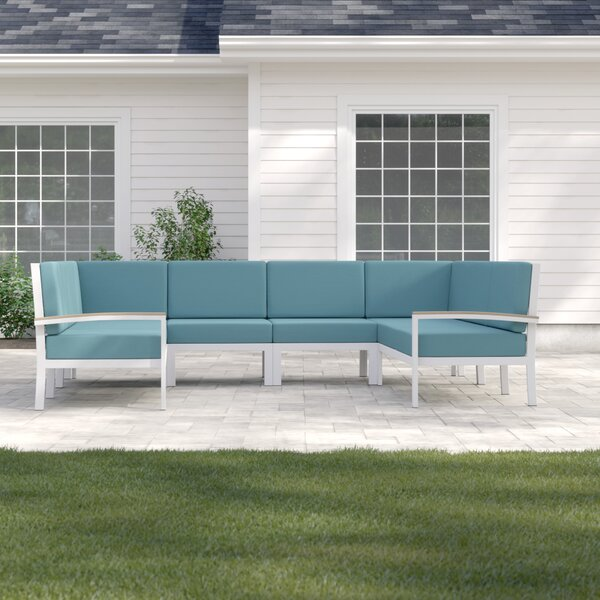 Caspian Rust Proof Sectional with Cushions by Sol 72 Outdoor