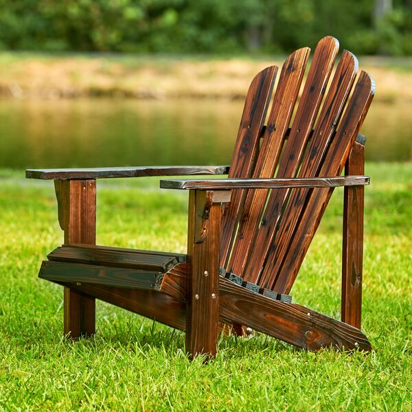 Cordelia Solid Wood Adirondack Chair by Beachcrest Home Beachcrest Home