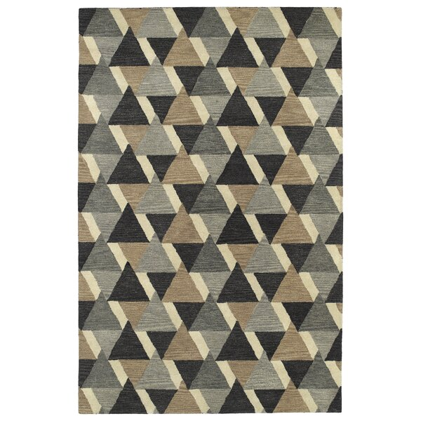 Dresden Hand Tufted Gray/Brown Area Rug by George Oliver