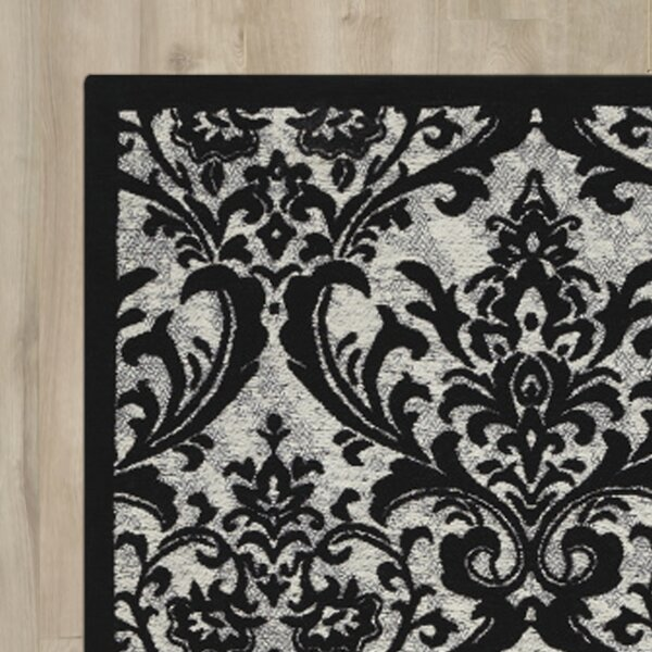 Portleven Black/White Area Rug by Charlton Home