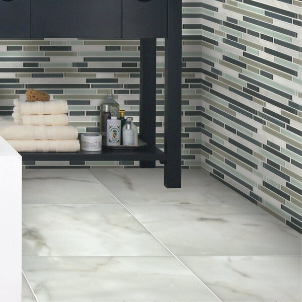 Calacatta 12 x 12 Natural Stone Field Tile in White