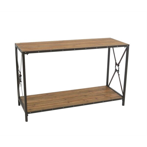 Auberge Robust Wood and Metal Console Table by Gracie Oaks