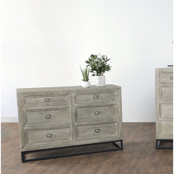 Bucklin 6 Drawer Double Dresser by Bungalow Rose