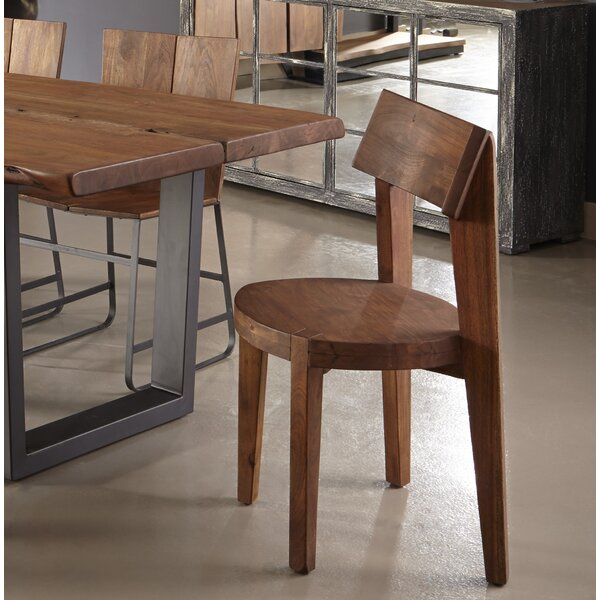 Sonnier Light Brown Solid Wood Dining Chair (Set of 2) by Union Rustic