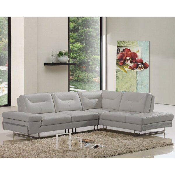 Coalpit Heath Leather Reclining Sectional By Orren Ellis #2