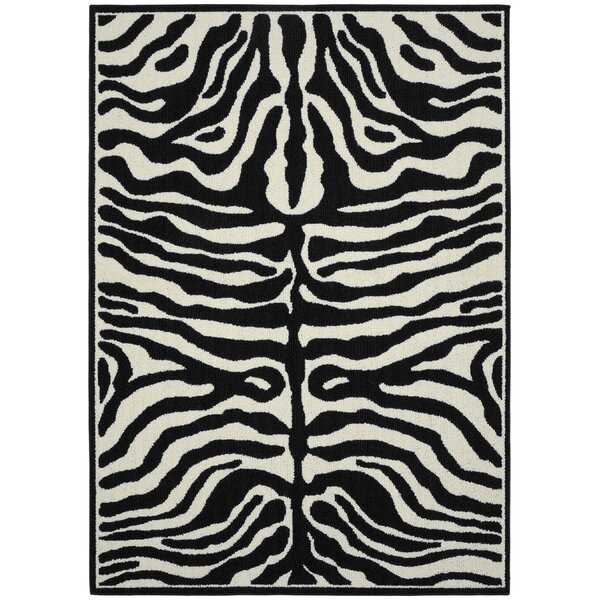 Safari Black/Ivory Area Rug by Garland Rug