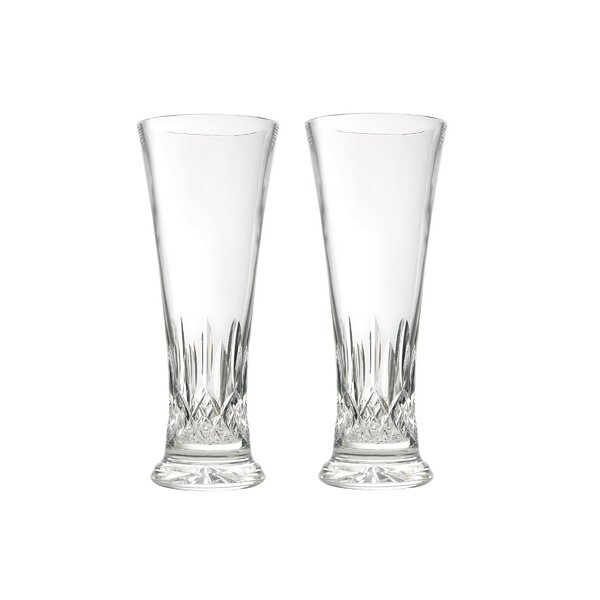 Lismore Pilsner Crystal Pint Glass (Set of 2) by Waterford