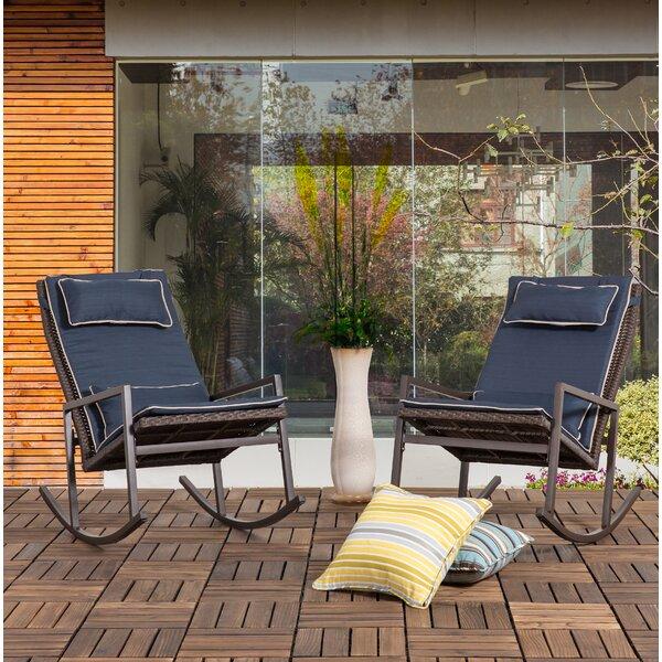 Beauregard Rocking Chair with Cushions (Set of 2) by Latitude Run