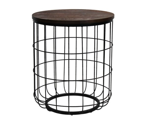 Helsel Industrial Wire End Table by Williston Forge