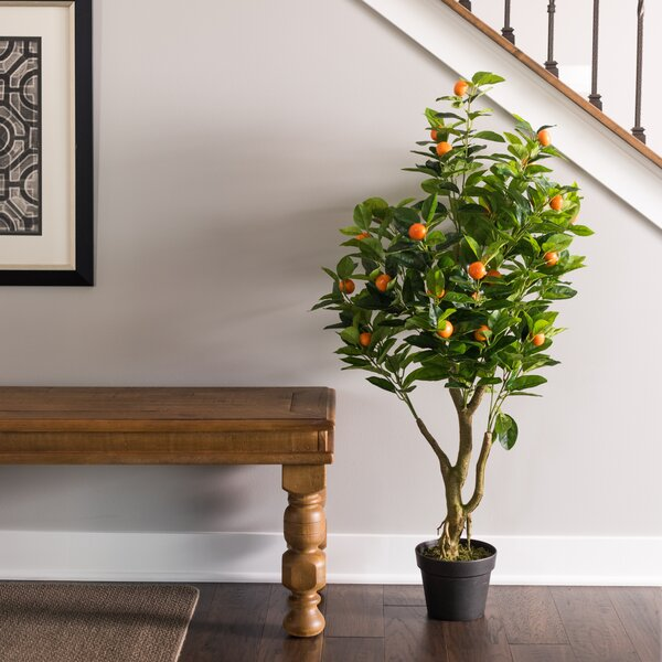 Artificial Real Touch Foliage Tree in Pot by Alcott Hill