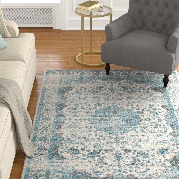 Barlett Medium Gray/Teal Area Rug by Astoria Grand