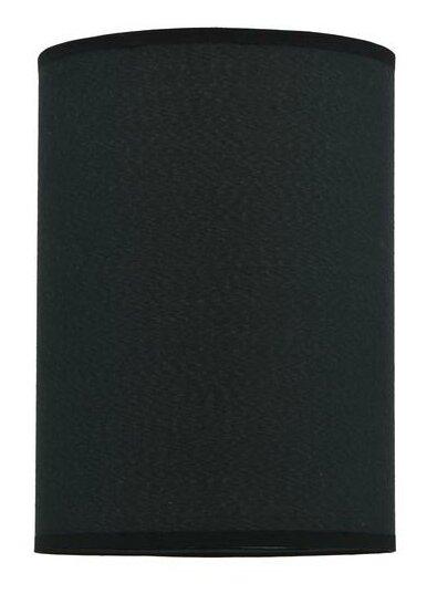11 H Tetoron Rayon Fabric Drum Lamp Shade ( Spider ) in Black