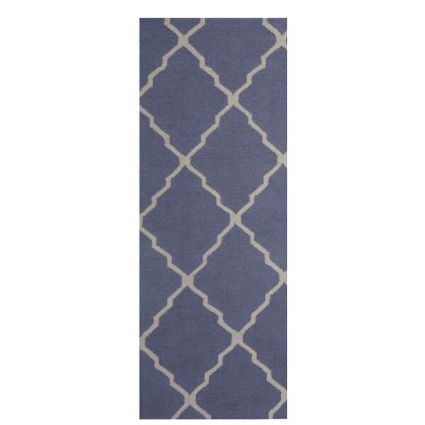 Hand-Tufted Blue/Ivory Indoor Area Rug by Herat Oriental