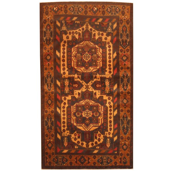 Prentice Hand-Knotted Navy/Tan Area Rug by Isabelline