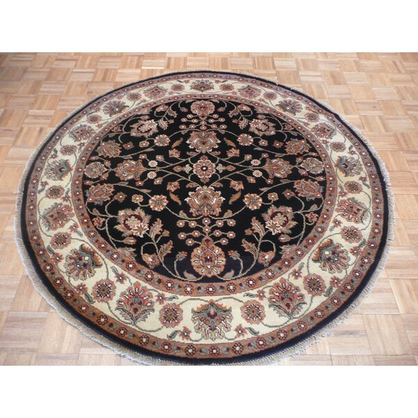 One-of-a-Kind Railey Hand-Knotted Wool Black/Beige Area Rug by Astoria Grand