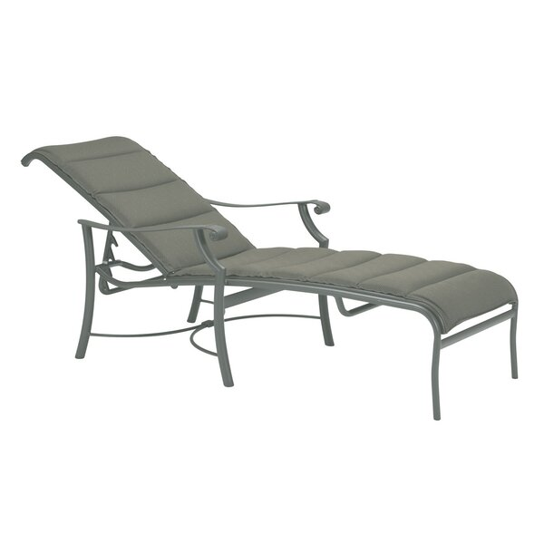 Montreux Padded Sling Reclining Chaise Lounge by Tropitone