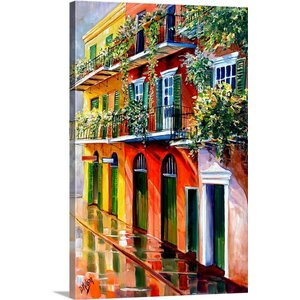 'French Quarter Sunshine' by Diane Millsap Painting Print on Canvas by Canvas On Demand