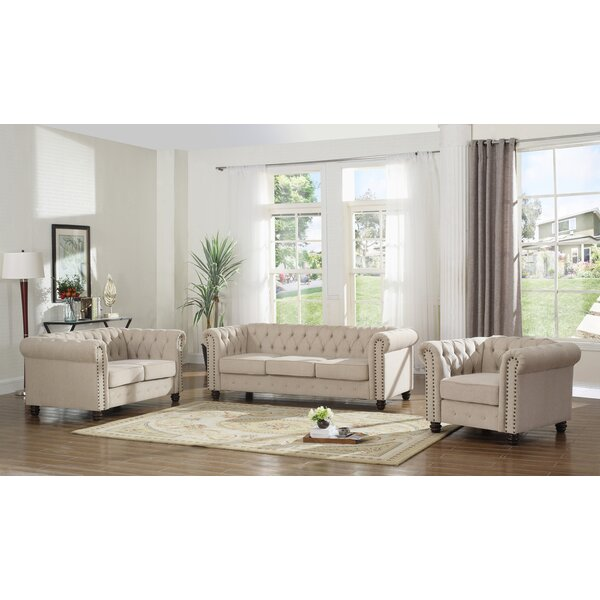 Audwin 3 Piece Living Room Set by House of Hampton
