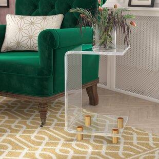 Wonderful Neves Acrlylic C Shape End Table Willa Arlo Interiors