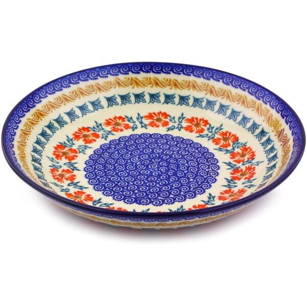 8.58 Polish Pottery Pasta Bowl by Polmedia