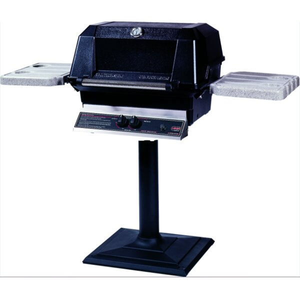 Heritage 1-Burner Natural Gas Grill with Side Shelves by Modern Home Products
