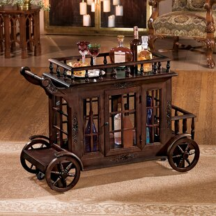 Shopping for Cranbrook Manor Cordial Carriage Bar Cart Great deals