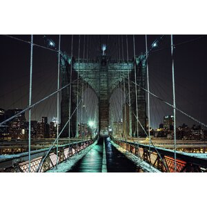 Brooklyn Night Photographic Print on Wrapped Canvas by 3 Panel Photo