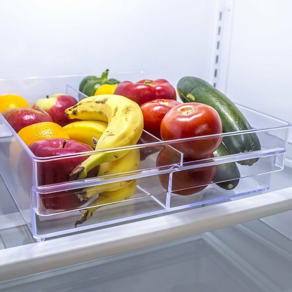 Acrylic Double Refrigerator Storage Drawer by Sorbus