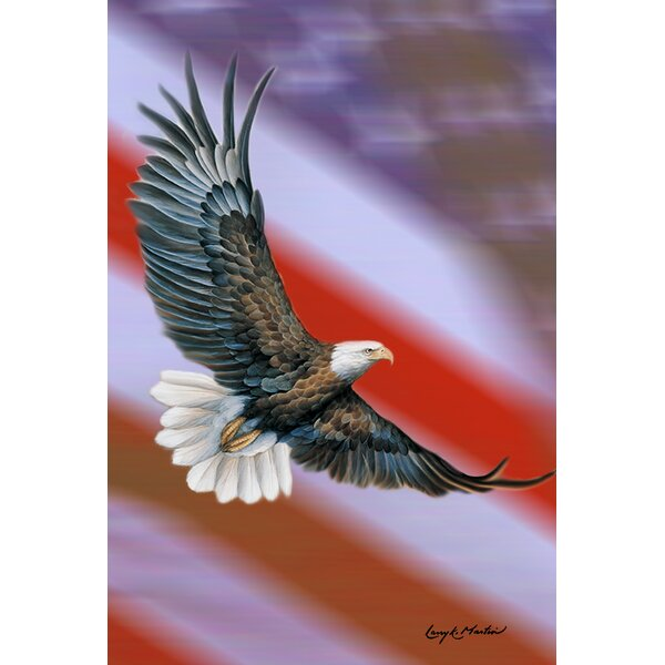 Patriotic Eagle 2-Sided Garden flag by Toland Home Garden