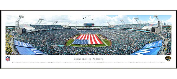 NFL Jacksonville Jaguars - Opening Ceremony by James Blakeway Standard Framed Photographic Print by Blakeway Worldwide Panoramas, Inc