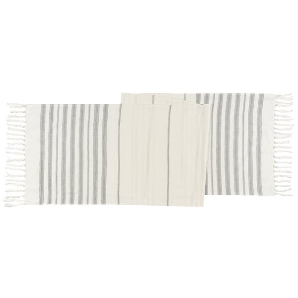 Bevis Ivory Table Runner by Highland Dunes