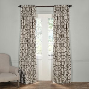 Diorios Geometric Blackout Thermal Rod Pocket Single Curtain Panel