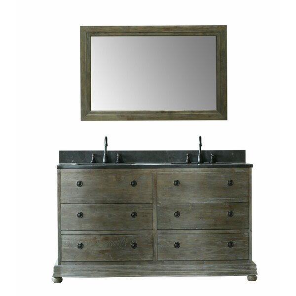 Toby 61 Double Bathroom Vanity Set with Mirror by Millwood Pines