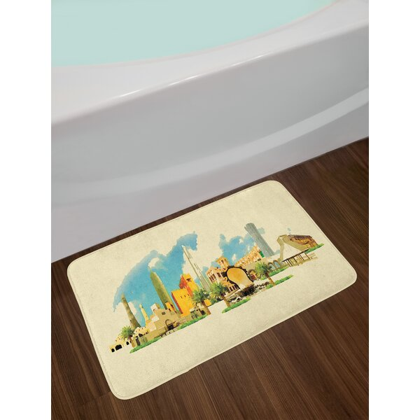 Doha Landscape Bath Rug by East Urban Home