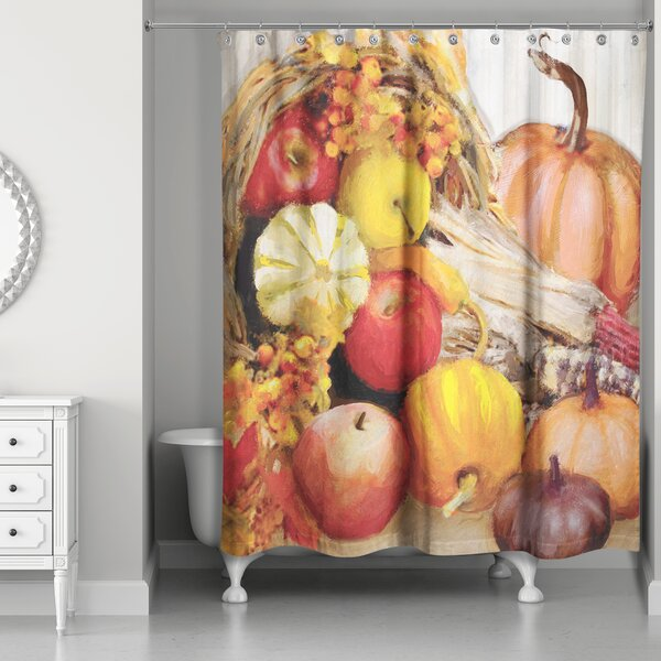 Fall Cornucopia Shower Curtain by The Holiday Aisle