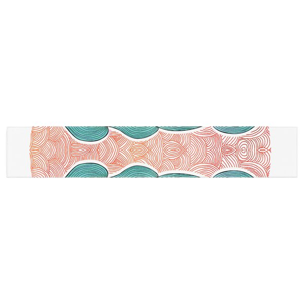 Pom Graphic Design Ocean Flow Table Runner by East Urban Home