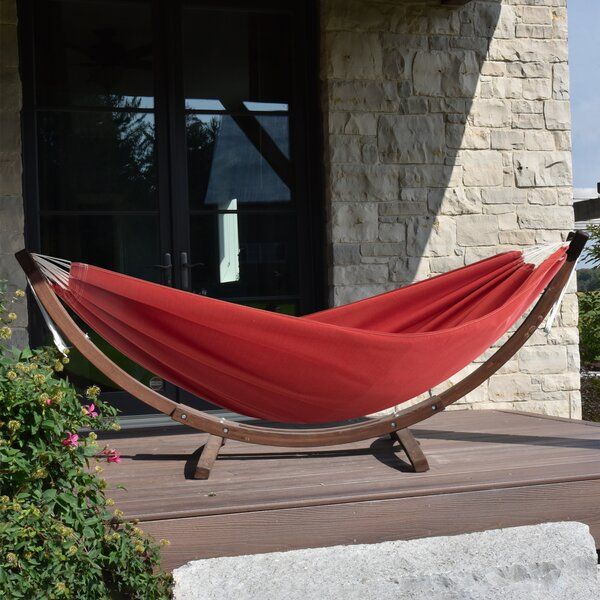 Bucknam Double Classic Hammock with Stand by Ebern Designs