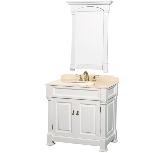 Andover 36 Single Bathroom Vanity Set with Mirror by Wyndham Collection