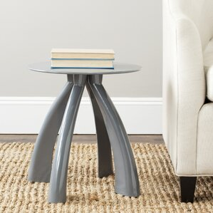 Odilia Iron End Table by Ivy Bronx
