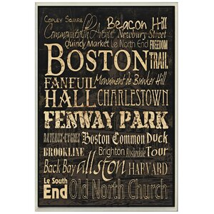'Boston' Textual Art by Zipcode Design