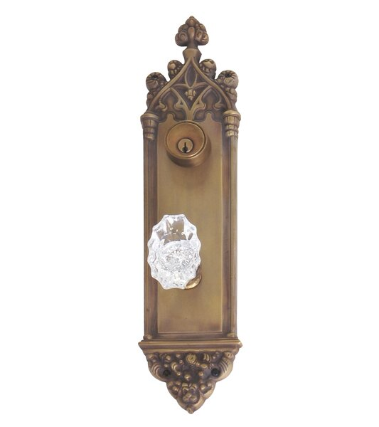 Renaissance Gothic Plate Single Cylinder Deadbolt by BRASS Accents