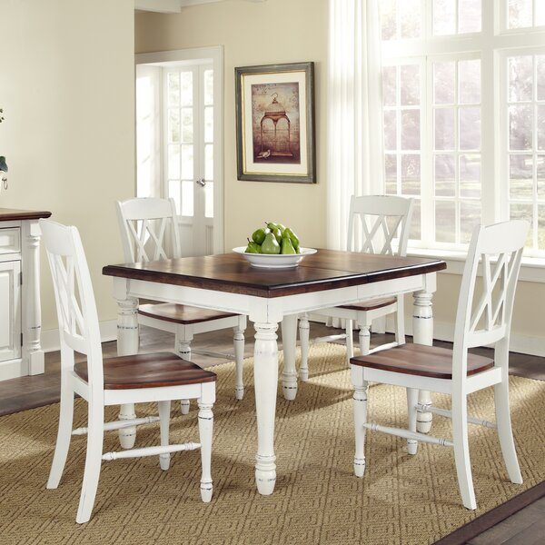 Giulia 5 Piece Solid Wood Dining Set by Laurel Foundry Modern Farmhouse