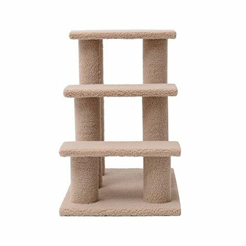 24 3 Step Scratching Post Cat Perch by Pawhut