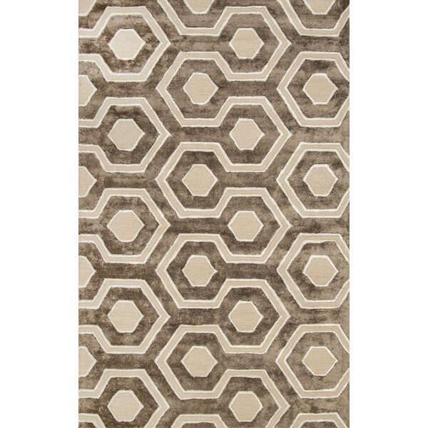 Shumpert Hand-Hooked Brown Area Rug by nuLOOM