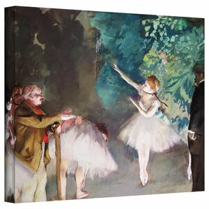 'Ballet Rehearsal' by Edgar Degas Painting Print on Wrapped Canvas by ArtWall